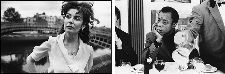 Edna O'Brien Dublin, 1980. James Baldwin London, 1964