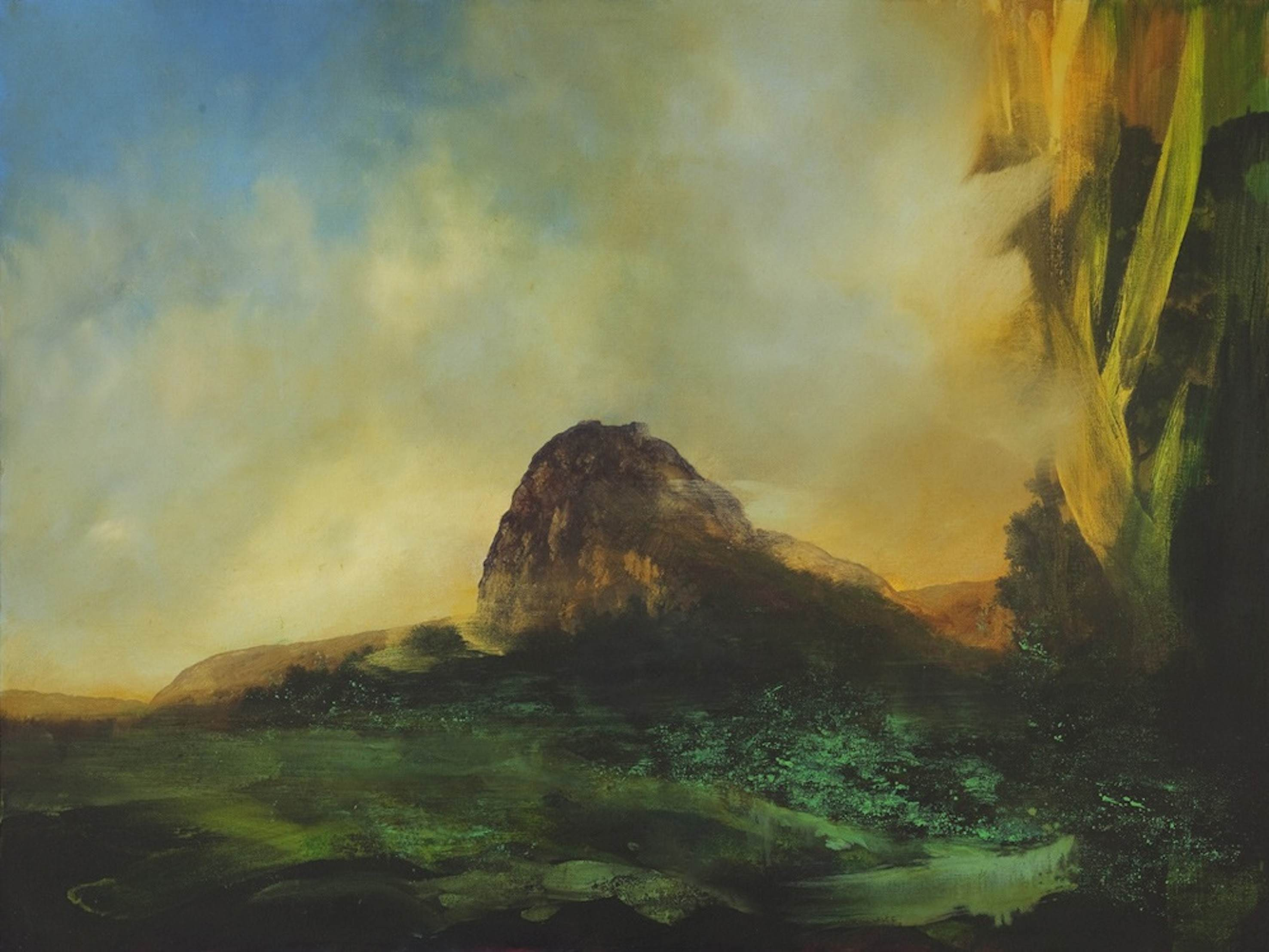 Alan Rankle Montsegur II 2012 oils on canvas 80x100cm